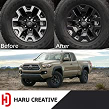 Haru Creative - Wheel Rim Overlay Vinyl Decal Sticker Compatible with and Fits Toyota Tacoma TRD Off Road 2016-2018 - Matte Black