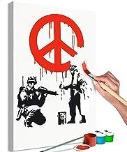 S// 17X24CM Banksy CND Soldados R/éplica Plantilla Reutilizable Decoraci/ón Hogar /& Artesan/ía Pintura plantilla Semitransparente Plantilla