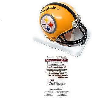 Terry Bradshaw Pittsburgh Steelers Signed Autograph Yellow Throwback Mini Helmet Bradshaw GTSM Holo & JSA Wintessed Certified