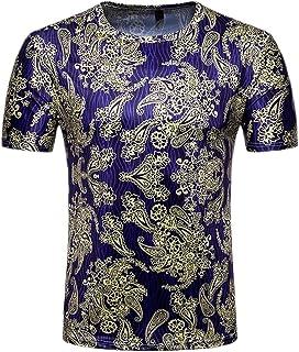 WSPLYSPJY Men's Summer Palace Printed Casual Slim Soft Comfort T Shirts