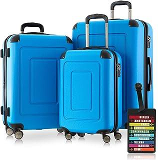Happy Trolley Lugano Luggage Set 76 centimeters 231 Blue (Cyan Blau)