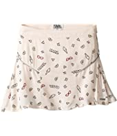 Karl Lagerfeld Kids - Viscose Skirt w/ All Over Ice Cream Print (Toddler)