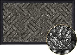 Magicfly Durable Rubber Door Mat, 29 x 17 Front Door Mat for Indoor & Outdoor Use, Waterproof Door Mats Outside for Entryway, Garage, Patio, Dark Gray