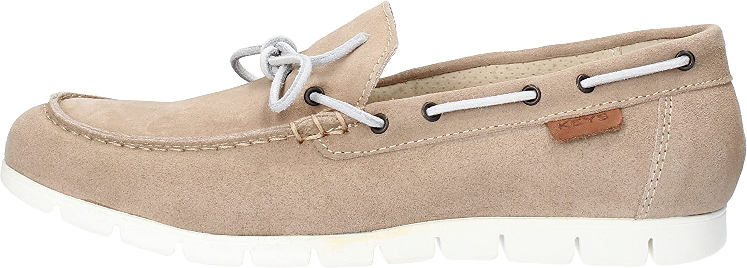 Keys Loafers-shoes Mens Suede Beige