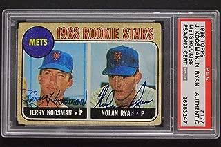 Nolan Ryan Jerry Koosman 1968 Topps #177 Signed Rookie Autographed Card PSA