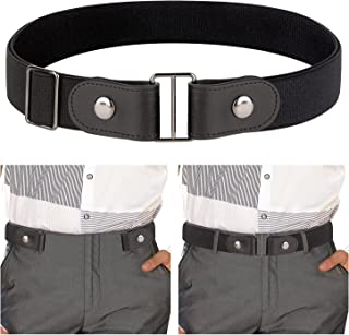 IGrugta Cintura Uomo Elastica-1 Cintura Senza Fibbia & 1 Cinture Intrecciata Unisex 110-130CM Cintura da Lavoro Cinta Casu...