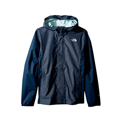 The North Face Kids Resolve Reflective Jacket (Little Kids/Big Kids) (Blue Wing Teal Heather) Girl