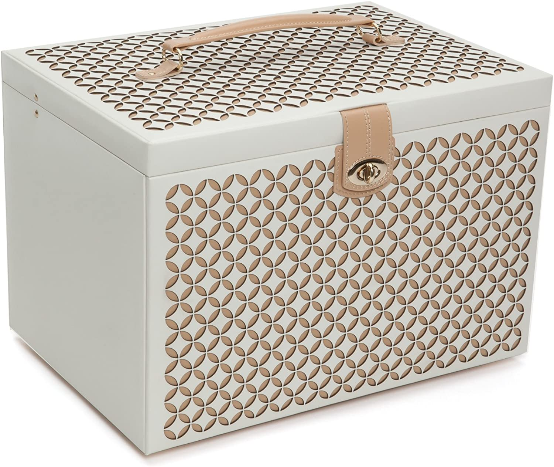 WOLF Chloé Extra Large Jewelry Box, XL Chest, Cream
