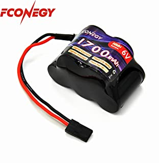 FCONEGY NiMH Battery Receiver Battery Pack 6.0V 1700mAh 5-Cell Hump Pack with BBL2 Plug for RC Transmitter and Receiver
