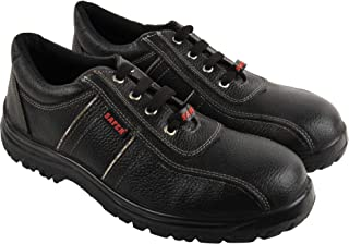 Aktion Safety Genuine Leather Shoes SA-1217 - Size 8, Black