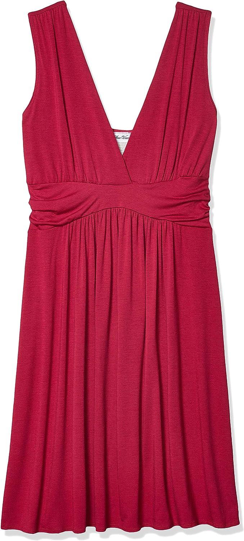Star Vixen Women's Short Sleeve Empire Waist Knee-Length Dress
