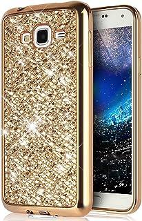 KunyFond TPU Silicone Paillette Strass Brillante Bling Glitter 360 Degres Protection Integral Avant+Arriere Choc Gel Housse /Étui Hybride Bumper Couverture Coque Compatible Samsung Galaxy J7 2016-Noir