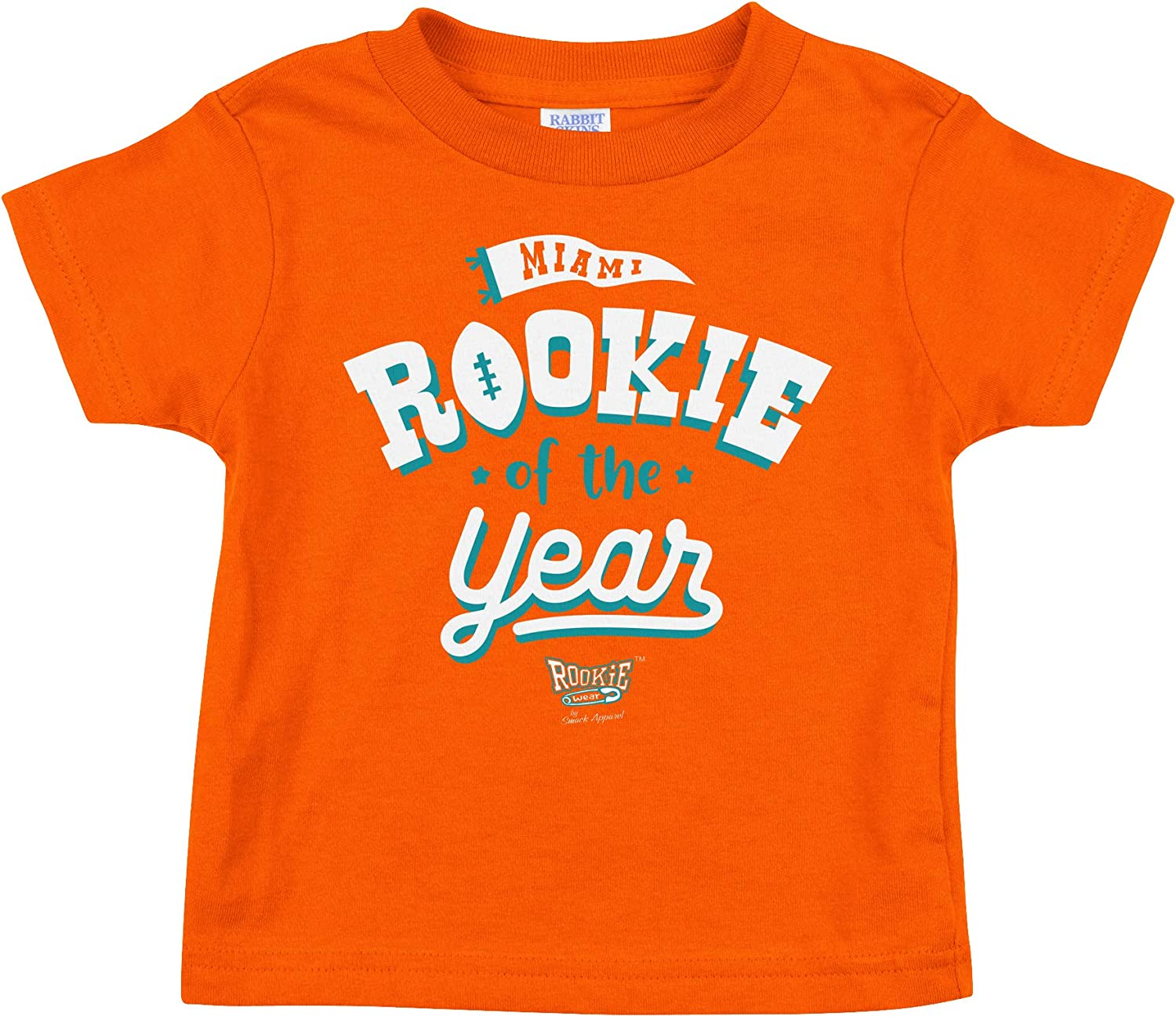 NB-4T Rookie of The Year Orange Onesie or Toddler Tee Miami Football Fans