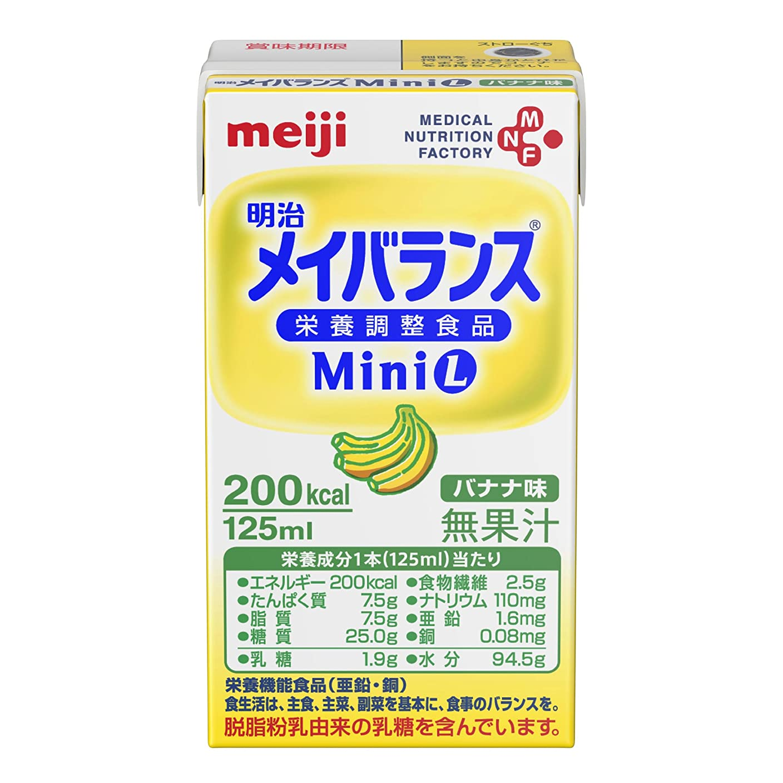 バンケット全体に化学【明治】メイバランス Mini バナナ味 125ml