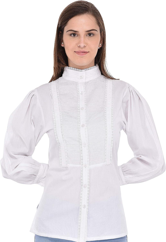 Cotton Lane White Vintage Long Sleeve Blouse