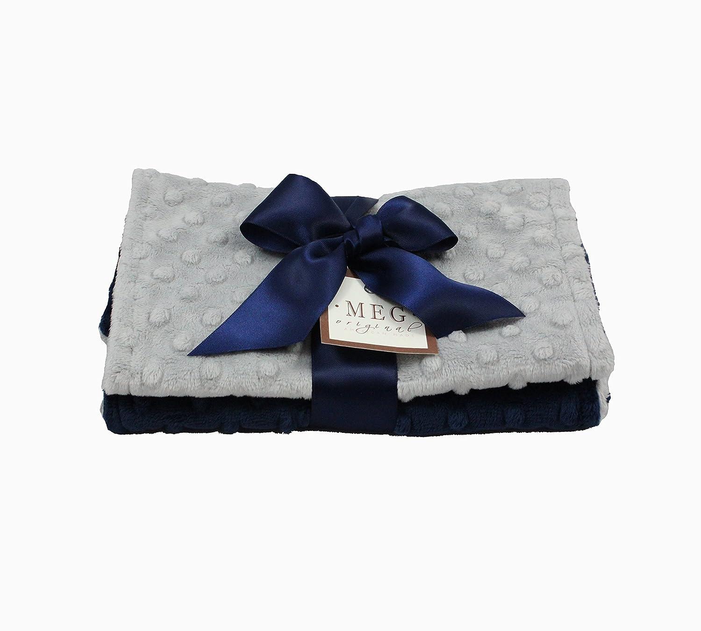 MEG Original Navy Blue Gray Baby Dot Cloths Se Burp Boy Minky Max 61% New Shipping Free Shipping OFF