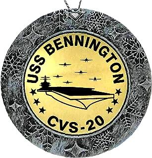 Spiffy Custom Gifts USS Bennington CVS-20 Acrylic and Brass Ornament 2 Sided