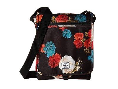 Herschel Supply Co. Lane (Vintage Floral Black) Messenger Bags