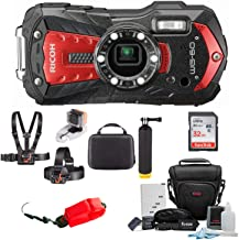 Ricoh WG-60 Digital Camera (Red) w/ 32GB SD Card + Case & Adventure On Water Action Bundle