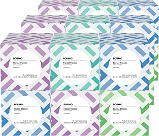 Amazon Brand - Facial Tissues with Lotion, 75 Tissues per Box (18 Cube Boxes)