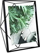 Umbra Prisma Picture Frame, 8x10 Photo Display for Desk or Wall, Black