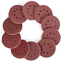WORKPRO Schuurschijven 150 Stuks, Schuurschijven 125 mm met 8 Gaten, Korrel 60, 80, 100, 120, 150,180, 240, 320, 400, 600 ...