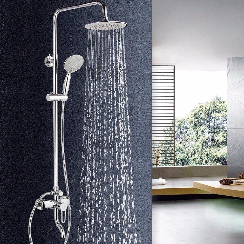 YFF Angenehme Dusche Dusche, alle Kupfer heien und kalten Wasserhahn set Dusche-, Hub super-dünn unter Druck stehende Dusche, hohe Qualitt