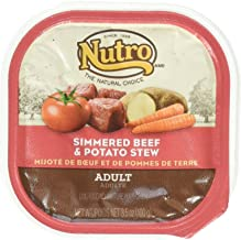 product image for Nutro Wet Dog Food, Simmered Beef and Potato Stew Caned Dog Food, (24) 3.5 Oz Trays
