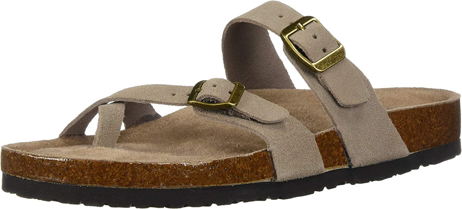 Damen Double Buckle Toe Thong Granola - Opt Opt Opt Out - Slide, Doppelschnalle, Zehentrenner 906