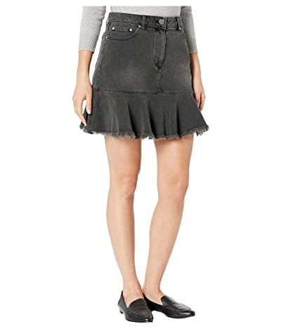 MICHAEL Michael Kors Denim Flounce Skirt (Charcoal Wash) Women