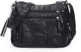 Handtaschen Damen Umhängetasche Damen PU Leder Weiche Schultertasche Handtasche Für Damen Mit Mehreren Taschen Crossbody B...