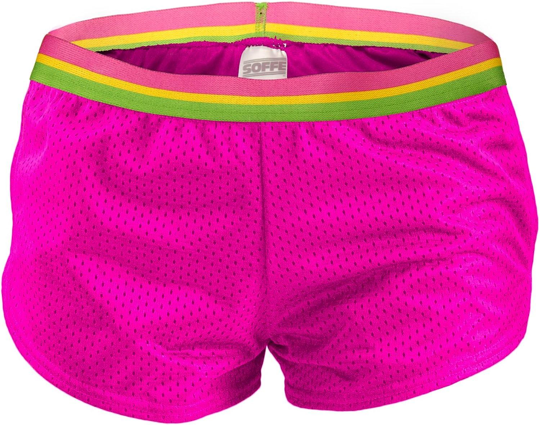 Soffe Women's Teeny Tiny Short, Neon Pink, Large