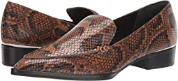 Caramel Snake Print Leather