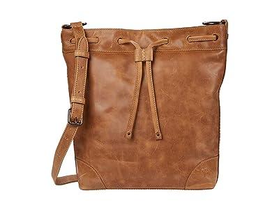 Frye Melissa Drawstring Hobo (Beige) Handbags
