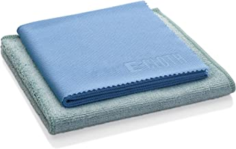 e-cloth Kitchen Pack-2 Microfiber Cleaning Cloths, Single, Blue and Green, 2 Count