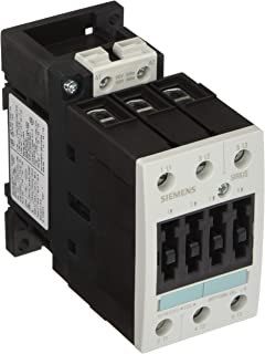 Siemens 3RT10 35-1AK60 Motor Contactor, 3 Poles, Screw Terminals, S2 Frame Size, 120V at 60Hz and 110V at 50Hz AC Coil Voltage Voltage