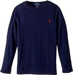 Polo Ralph Lauren Kids - Waffle-Knit Cotton T-Shirt (Little Kids/Big Kids)