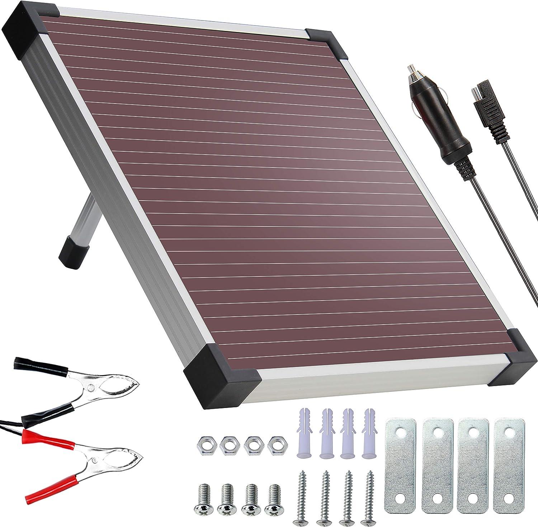 SOLPERK 12V Solar Panel,Solar trickle Seasonal Wrap Introduction Battery Excellence Charger,Solar