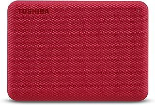 Toshiba 1TB Canvio Advance Portable Hard drive USB 3.2 Gen 1 With Automatic Backup,Red -HDTCA10ER3AA