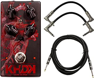 KHDK DB Dark Blood Kirk Hammett Signature Distortion Effect Pedal for Guitars with 2 Path Cable and Instrument Cable