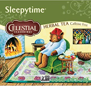 Celestial Seasonings Herbal Tea, Sleepytime, 40 Count Box (Pack of 6)