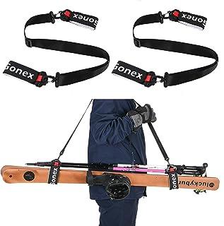 Gonex Skidaxelremmar skidbärare stång snöbärare för barn män kvinnor familj skidväska rem stövel backcountry utrustning sk...