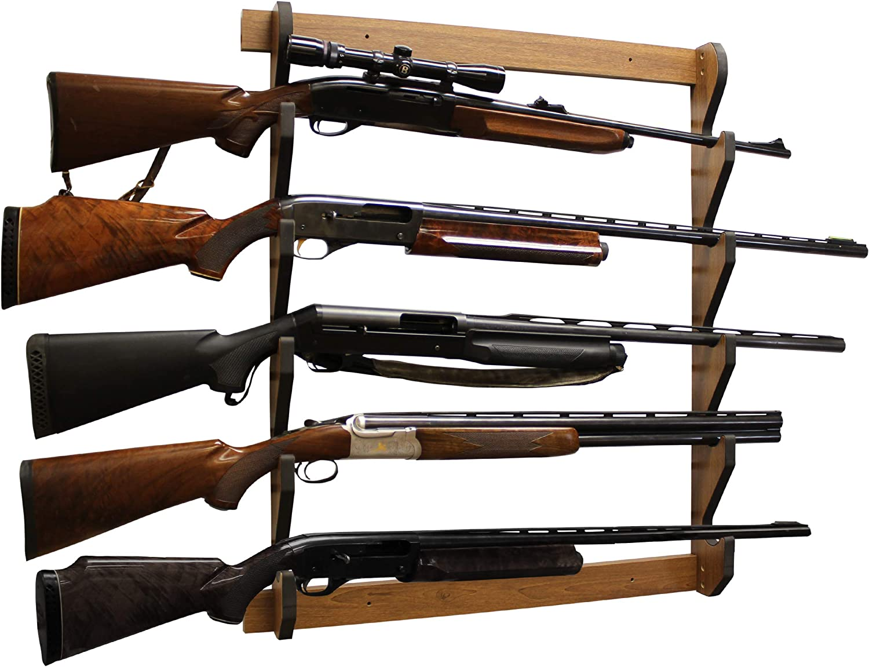 Rush Creek Creations Indoor 5 Storage Display Shotgun Rifle 売買 市場 Wall