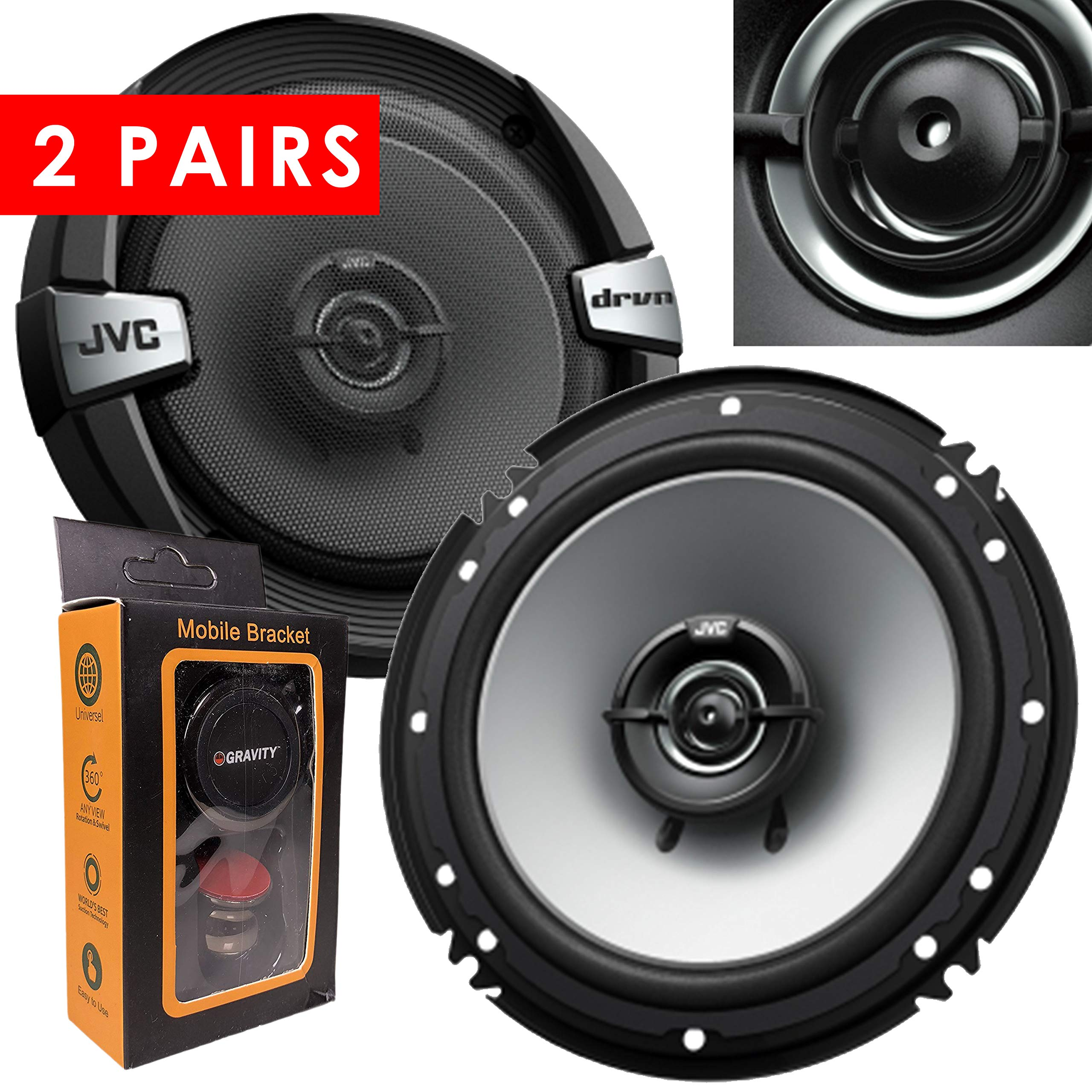 Pairs JVC Cs DR162 Coaxial Speakers