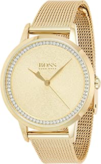 Hugo Boss Womens Quartz Watch, Analog Display and Stainless Steel Strap 1502465
