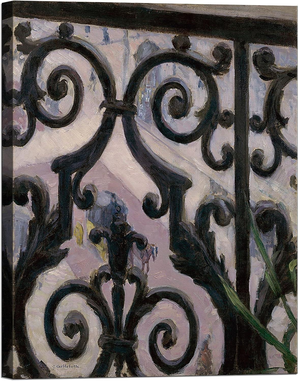 Bild auf Leinwand mit Keilrahmen Keilrahmen Keilrahmen aus Holz Gustave Caillebotte View From A Balcony 120x90 CM B078HMXD91 | 2019  6702d7
