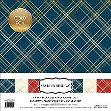Carta Bella Paper Company Seasonal Plaid Gold Foil Collection Kit