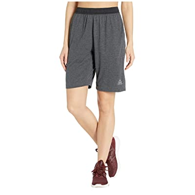 Reebok Training Elements Jersey Shorts (Dark Grey Heather) Women