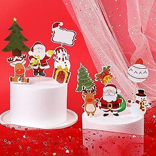 Santa Père Noël Comestible Cupcake Topper Décorations MC08