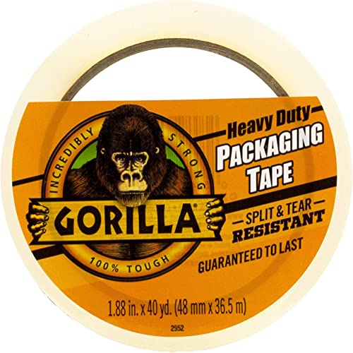 Gorilla 6042502 Large Core Packaging Tape, 1-Pack, Clear